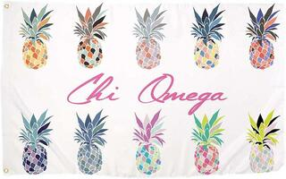 Chi Omega Pineapple Flag