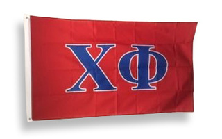 Chi Phi Big Greek Letter Flag