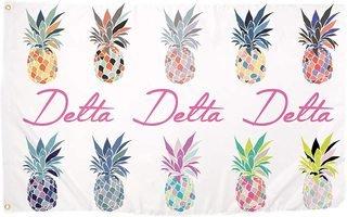 Delta Delta Delta Pineapple Flag