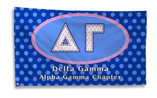 Delta Gamma Polka Dot Giant Flag