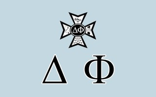 Delta Phi Flag Decal Sticker