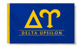 Delta Upsilon Custom Line Flag