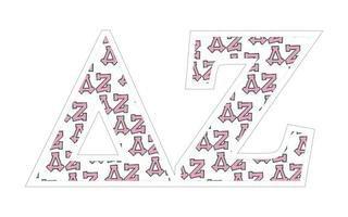 "Delta Zeta Mascot Greek Letter Sticker - 2.5"" Tall"