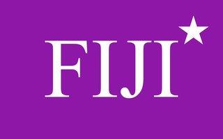 FIJI FraternityFlag Decal Sticker
