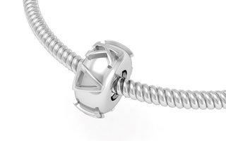 Kappa Delta Silver Bead Necklace