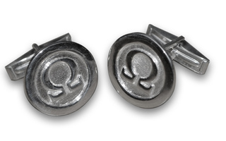 Omega Cuff Links - Sterling Silver