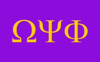 Omega Psi Phi Flag Decal Sticker