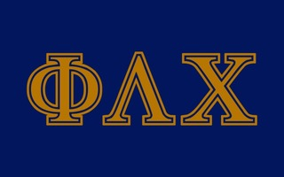 Phi Lambda Chi Flag Decal Sticker