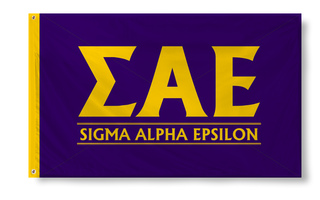 Sigma Alpha Epsilon Custom Line Banner