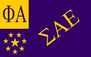 Sigma Alpha Epsilon Flag Decal Sticker