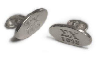 Sigma Chi Sterling Silver Est. Cuff Links