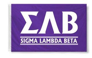 Sigma Lambda Beta Custom Line Flag