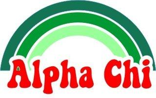 Alpha Chi Omega Rainbow Decals