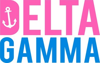 Delta Gamma Pink & Blue Decal