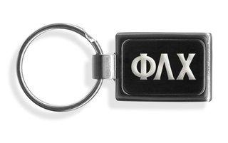 Phi Lambda Chi Engraved Chrome Keychains