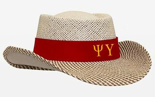 Psi Upsilon Straw Hat