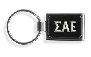 Sigma Alpha Epsilon Engraved Chrome Keychains