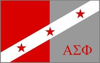 Alpha Sigma Phi Flag Decal Sticker