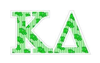 """Kappa Delta Mascot Greek Letter Sticker - 2.5"""" Tall"""