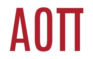 Alpha Omicron Pi Big Greek Letter Window Sticker Decal