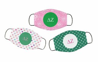 Delta Zeta Face Mask Trio Set