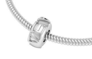Alpha Xi Delta Silver Bead Necklace