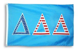 Delta Delta Delta 3 X 5 USA Flag