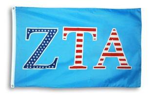 Zeta Tau Alpha 3 X 5 USA Flag