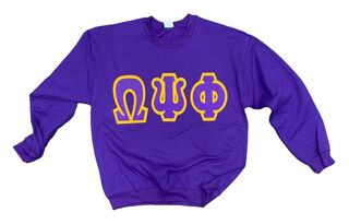 CLOSEOUT Omega Psi Phi JUMBO Lettered Crewneck Sweatshirt