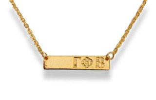 Gamma Phi Beta Cross Bar Necklace
