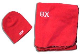 Greek Blanket & Beanie Set