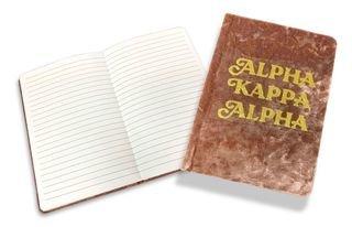 Alpha Kappa Alpha Velvet Notebook
