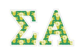 """Sigma Alpha Mascot Greek Letter Sticker - 2.5"""" Tall"""
