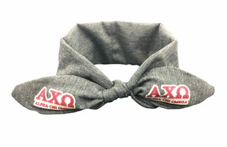 Alpha Chi Omega Knotted Cotton Headband