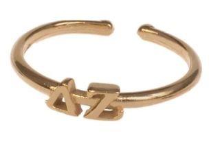 Delta Zeta Adjustable Letter Ring