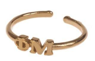 Phi Mu Adjustable Letter Ring