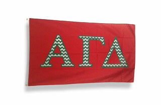 Alpha Gamma Delta Chevron Flag