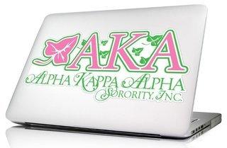 Alpha Kappa Alpha  10 x 8 Laptop Skin/Wall Decal