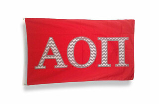 Alpha Omicron Pi Chevron Flag