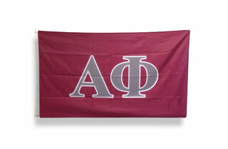 Alpha Phi Big Greek Letter Flag