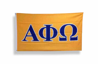Alpha Phi Omega Big Greek Letter Flag