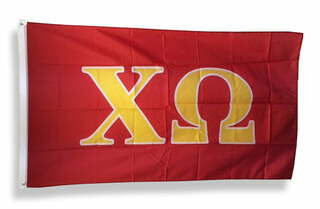 Chi Omega Big Greek Letter Flag