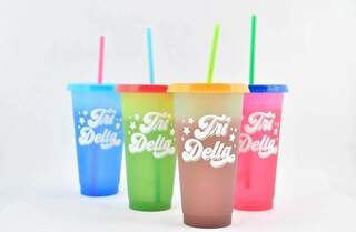 Delta Delta Delta Color Changing Cups (Set of 4)