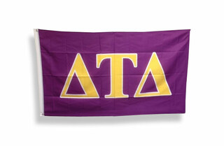 Delta Tau Delta Big Greek Letter Flag