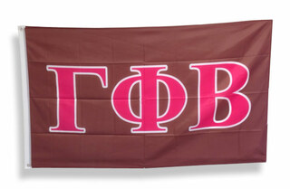 Gamma Phi Beta Big Greek Letter Flag