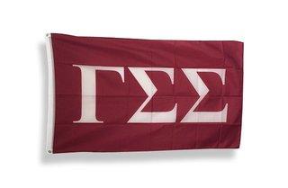 Gamma Sigma Sigma Big Greek Letter Flag