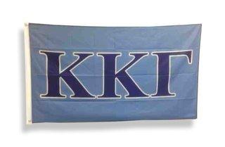 Kappa Kappa Gamma Big Greek Letter Flag