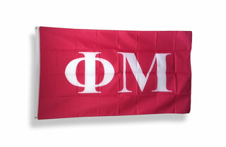 Phi Mu Big Greek Letter Flag