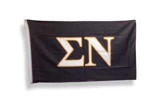 Sigma Nu Big Greek Letter Flag