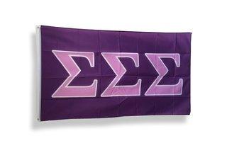 Sigma Sigma Sigma Big Greek Letter Flag